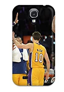 Hard Plastic Galaxy S4 Case Back Cover,hot Los Angeles Lakers Nba Basketball (25) Case At Perfect Diy