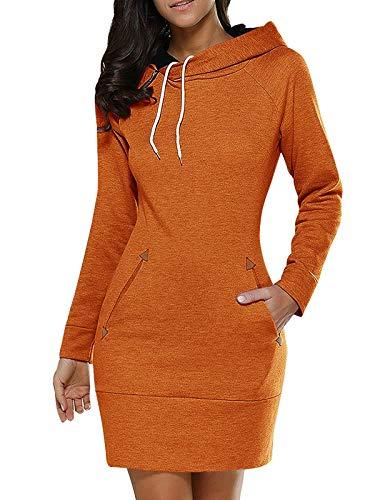 VONDA Damesjurk met lange mouwen, lange mouwen, lange mouwen, trui, slim getailleerd sweatshirt met zakken
