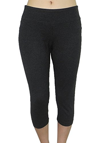 bally-total-fitness-womens-sports-skinny-leggings-yoga-capri-pants-l-black