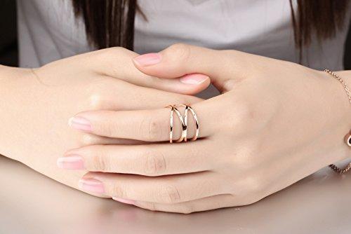 Amazoncom OPK Jewelry Personality Rose Gold X Criss Cross Long