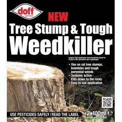 Doff New Tree Stump & Tough Weedkiller 2 Sachets