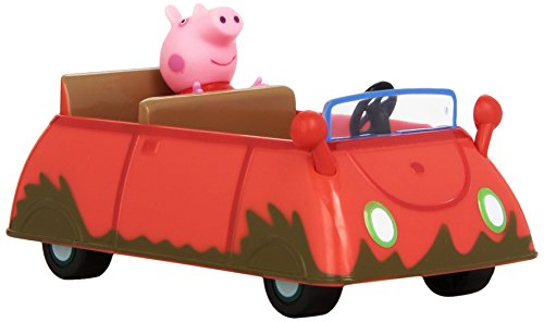 Peppa Pig - Muddy Puddle Car - Voiture de Peppa + Figurine (Import Royaume-Uni)