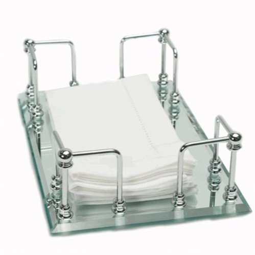 Mirrored Guest Towel Tray - 5