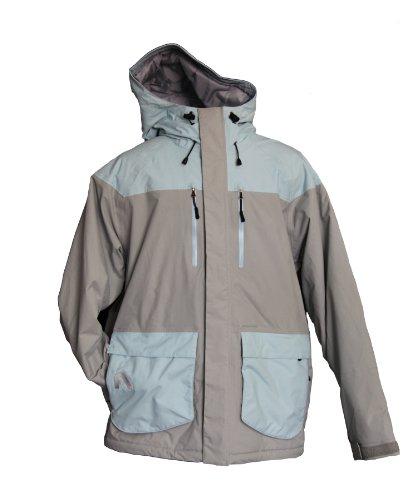 Flylow Men's Ba Puffy Jacket, Quarry/Aquamarine, Large (Layer Puffy Jacket)