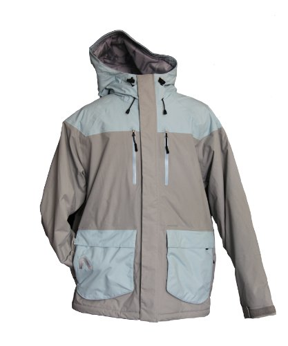 Flylow Men's Ba Puffy Jacket, Quarry/Aquamarine, X-Small
