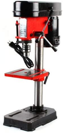 5-Speed/Electric Bench Drill Press Stand Workbench Repair Mini Drilling Machine Adjustable Angle /& Speed 350W