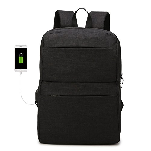 Commuter backpack, Slim 15.6 inch Laptop Bag with USB Charging Port Business School Travel Weekender Bag for Men Women