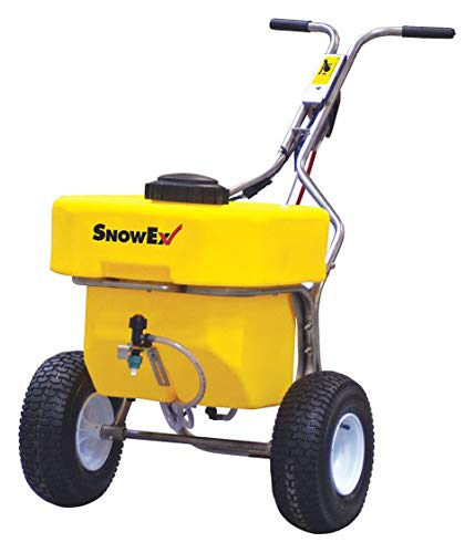 Push Sprayer, 12 gal. Capacity, Pneumatic Wheel Type, Broadcast Drop Type, Fixed T Handle