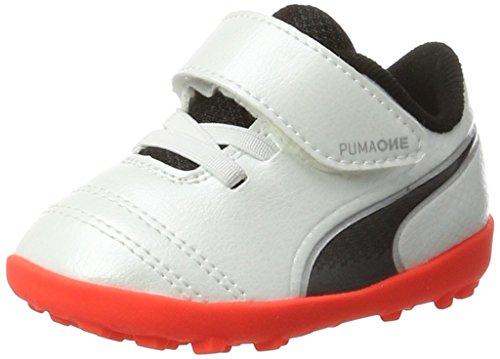 Puma One 17.4 TT V Inf, Zapatillas de Fútbol Unisex Niños Blanco (White-black-fiery Coral)
