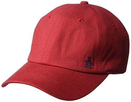 Original Penguin Men's Twill Logo Baseball Cap, red, OSFA