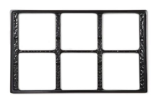 G.E.T. Enterprises Black Tile with Six Cut-Outs, Break Resistant Dishwasher Safe Melamine Tiles-Cut Outs Collection ML-168-BK (Pack of - Tile Out
