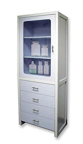 Amazon.com: Exquisite Spa Storage Cabinet with 4 Sliding Drawers ...