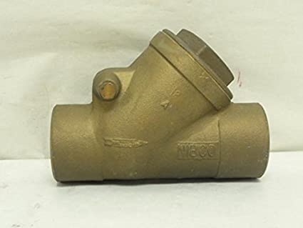 NIBCO T-413-Y-LF Silicon Bronze Lead-Free Check Valve 3//4 Female NPT Thread PTFE Seat Class 125 Horizontal Swing FIPT