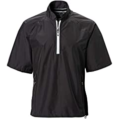 Sun Mountain Men's Cumulus Short Sleeve Rain PulloverFeatures: * Lightweight waterproof construction is also extremely breathable for comfort inside and out * Woven outer shell is laminated to create a waterproof barrier * Breathable membrane...