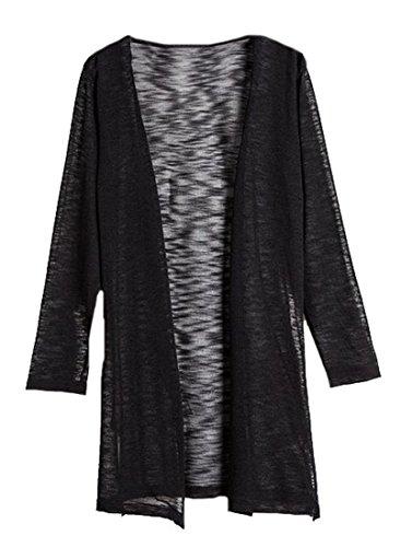 Women Long Sleeve Cotton Linen Casual Long Maxi Kaftan Hippie Dress - 9