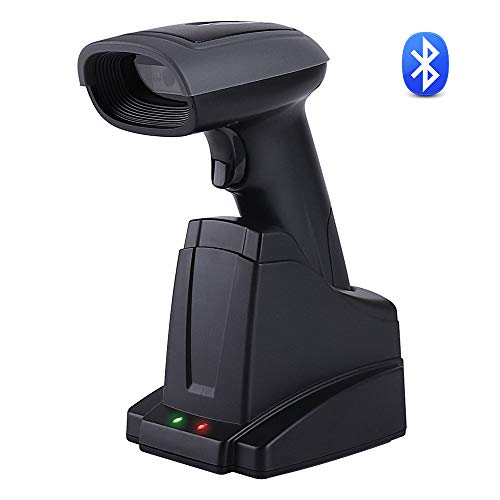 2D QR Wireless Bluetooth Barcode Scanner MUNBYN 2 in 1 Bar Codes Reader for Android/iPhone/iPad/Windows/Mac System with Automatic Image Function and Dock Charger Plug and Play