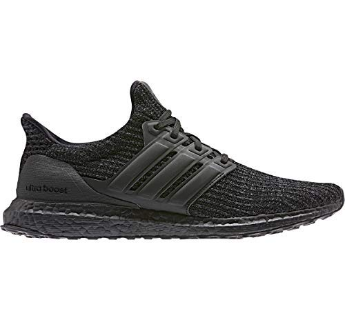 adidas Men's Ultraboost, Black/Active red, 9.5 M US