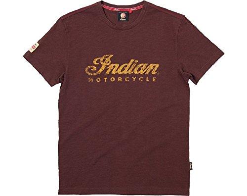 Indian Motorcycle Men's Logo Tee Brown-XLarge