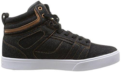 Osiris Raider Herren Skateboardschuhe Schwarz - Noir (Blk/Wht/Tan)