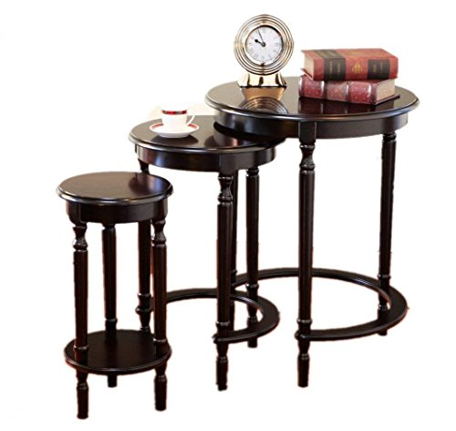 Amazing Buys 3 Piece Set Nesting Tables in A Cherry Finish Cherry Finish Nesting Tables