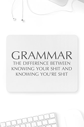Grammar The Difference Between Knowing Mouse Pad Sarcastic ME Funny Office Novelty Gift Idea by Sarcastic ME
