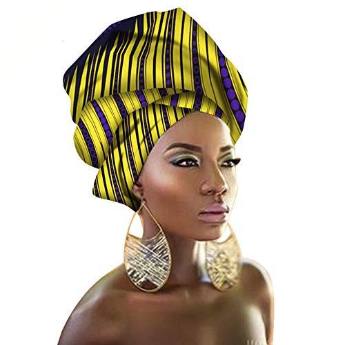 African Traditional Wax Print Head wrap Headwrap Scarf Tie, Multi-Color Urban Ladies Hair Accessory Headband Head Scarf (TTJ23)