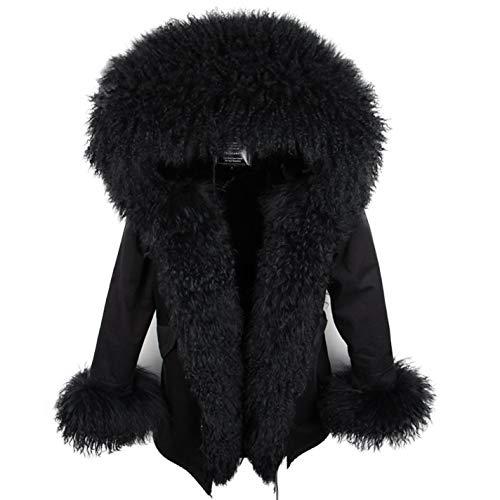 Women's Fur Coat Jacket Parka Feminina Oversized Mongolian Lamb Coat