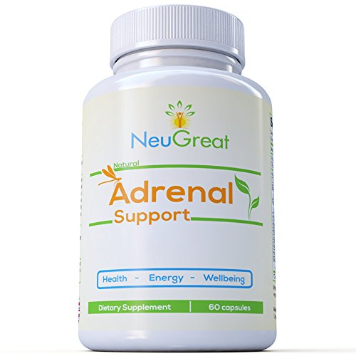 Premium Adrenal Supplement with Ashwagandha & L-Tyrosine - Counter Anxiety, Reduce Fatigue & improves mood - Cortisol Level Stabilizer and Weight Control - Improves Energy, Health & Wellbeing