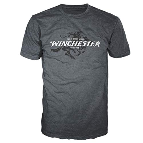 Winchester Official Men's Legend Rider Graphic Short Sleeve T-Shirt (XXL, Dark - Official Xxl T-shirt