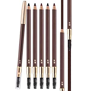 Scala 1 pcs Makeup Eyebrow Enhancer 12H Long Lasting Sweat &Waterproof Eyebrow Pencil Pen 5 Colors Dark Brown Eye Brow Pencil (2# Dark Brown)