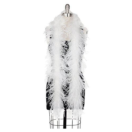 Zucker Feather (TM) - Ostrich Boas White with Opal Lurex - (Lurex Accents)