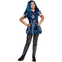 Disney Evie Classic Descendants 2 Costume, Blue, Large (10-12)