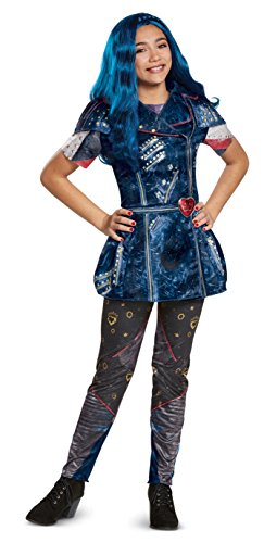 Costume 2 - Disney Evie Classic Descendants 2 Costume, Blue, Large (10-12)