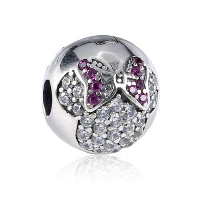 Color: 20 Pukido Authentic 925 Sterling Silver Clip Stopper Bead Charm Women Original Charms Fit DKG Bracelets Bangles DIY Jewelry 35 Styles