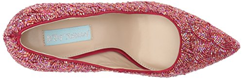 Pump by Betsey Womens Johnson SB Red Clair Satin Blue dYzCqZwC