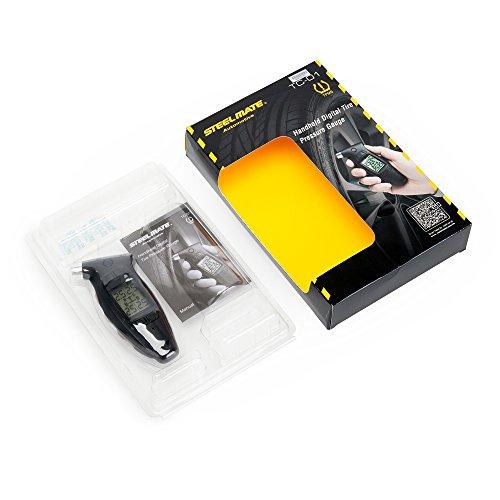 STEELMATE TC-01 DIY Handheld Memory Digital Tire Pressure Gauge, 4 Tire Pressure Data At-a-glance High-Cost-Effective Tire Air Gauge With Large LCD Display ( 0-87 Psi )