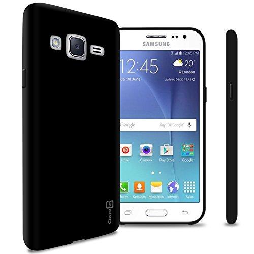 Galaxy J2 TPU Case (2016), CoverON FlexGuard Series Premium Slim Fit Flexible TPU Rubber Phone Cover for Galaxy J2 (2016) - Black