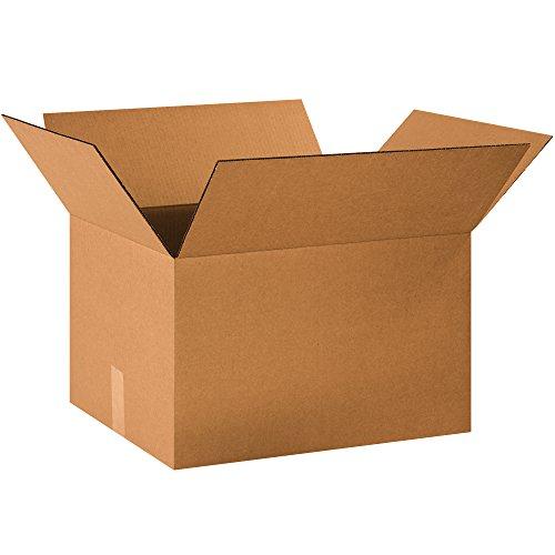 """BOX USA B201612 Corrugated Boxes, 20"""" x 16"""" x 12"""", Kraft (Pack of 25) from BOX USA"""