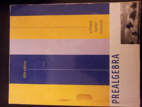 Prealgebra (Special Edition for Essex County Colle