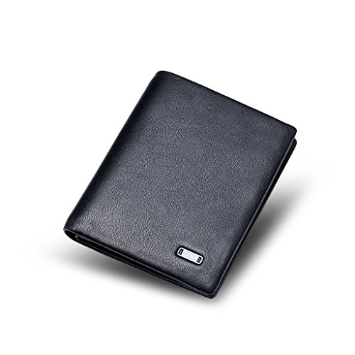 ZRO Men's Simple Bifold Wallet Genuine Leather