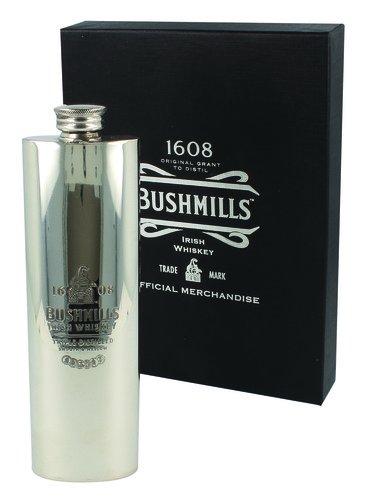 Bushmills Irish Whiskey Large Silver Flask
