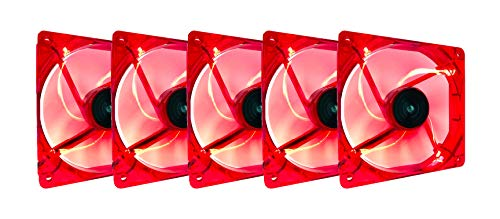 (Apevia CF512L-RD 120mm 4pin+3pin Silent Red LED Case Fan)
