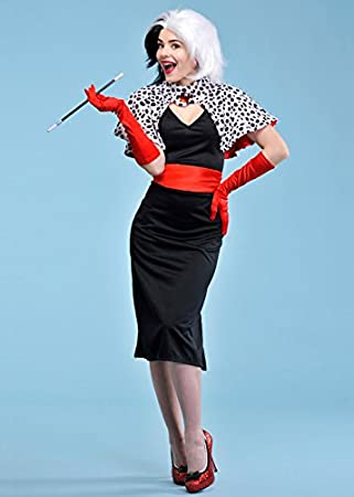 Magic Box Traje para Mujer Cruella De Vil para Mujer Large (UK 16 ...