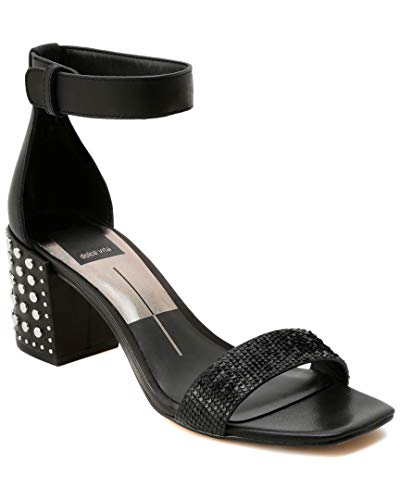 Pumps Vita Dolce Leather - Dolce Vita Women's DORAH Heeled Sandal Black Sliced Leather 8 M US
