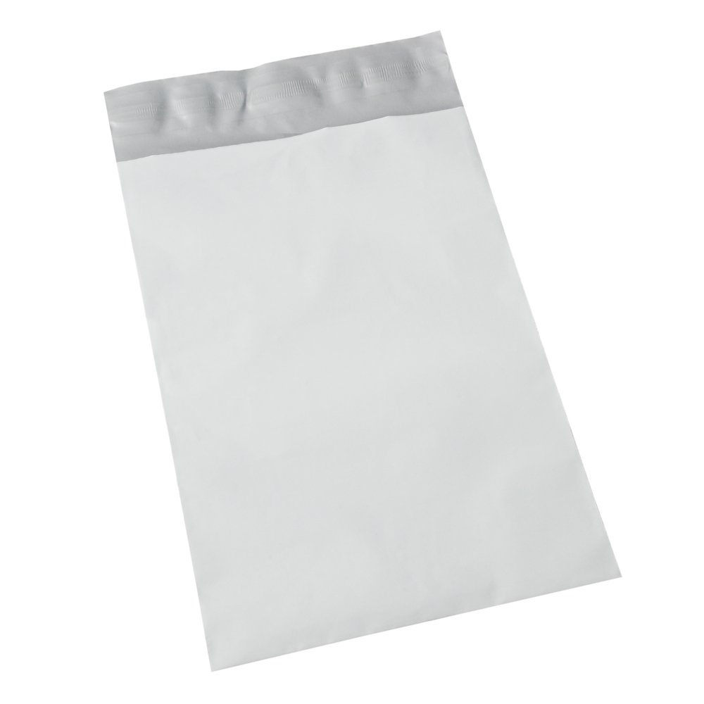 1000 EcoSwift 14 x 17 White Poly Mailer Size #6 Self Sealing Envelopes Plastic Shipping Mailing Bags 14x17 2.35 Mil by EcoSwift