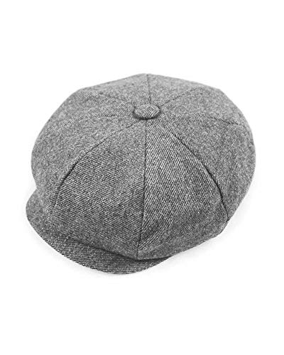 Candy Apple Costumes Newsboy Cap (Solid Light Gray)