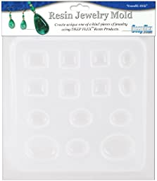 Yaley Resin Jewelry Reusable Plastic Mold 6-1/2 by 7-Inch, Jewels 14 Assorted Shapes
