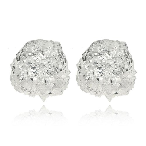 Cracked Gold Sets Ice (DDLBiz Fashion Women Candy Ear Studs Cracked Ice Rhinestone Earrings (F))