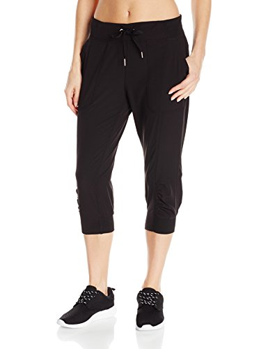 Performance Capri Pants - Calvin Klein Performance Women's Rib Cuff Bottom Capri Pant, Black, M