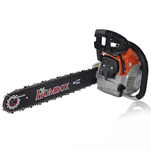 Homdox 62cc 20'' Petrol Chainsaw with Chainsaw Bar Cover, Tool Kit, Fuel Mixing Bottle and Manual by Homdox